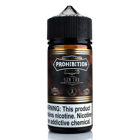 Sin Tax by Prohibition 100ml E-Juice Prohibition