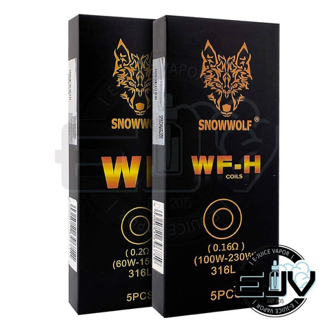 SnowWolf WF-H Replacement Coils - (5 Pack) Replacement Coils SnowWolf