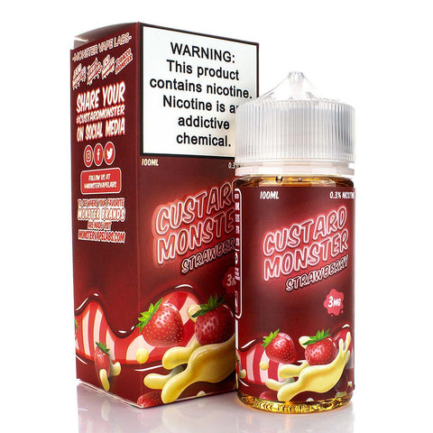 Strawberry by Custard Monster 100ml E-Juice Custard Monster
