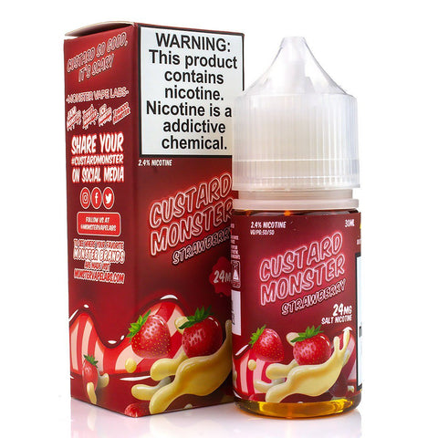 Strawberry Custard by Custard Monster Salts 30ml Nicotine Salt Custard Monster Salts