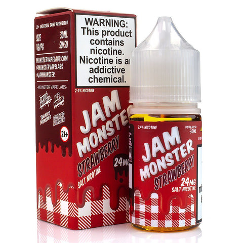 Strawberry by Jam Monster Salt Nicotine 30ml Nicotine Salt Jam Monster Salt