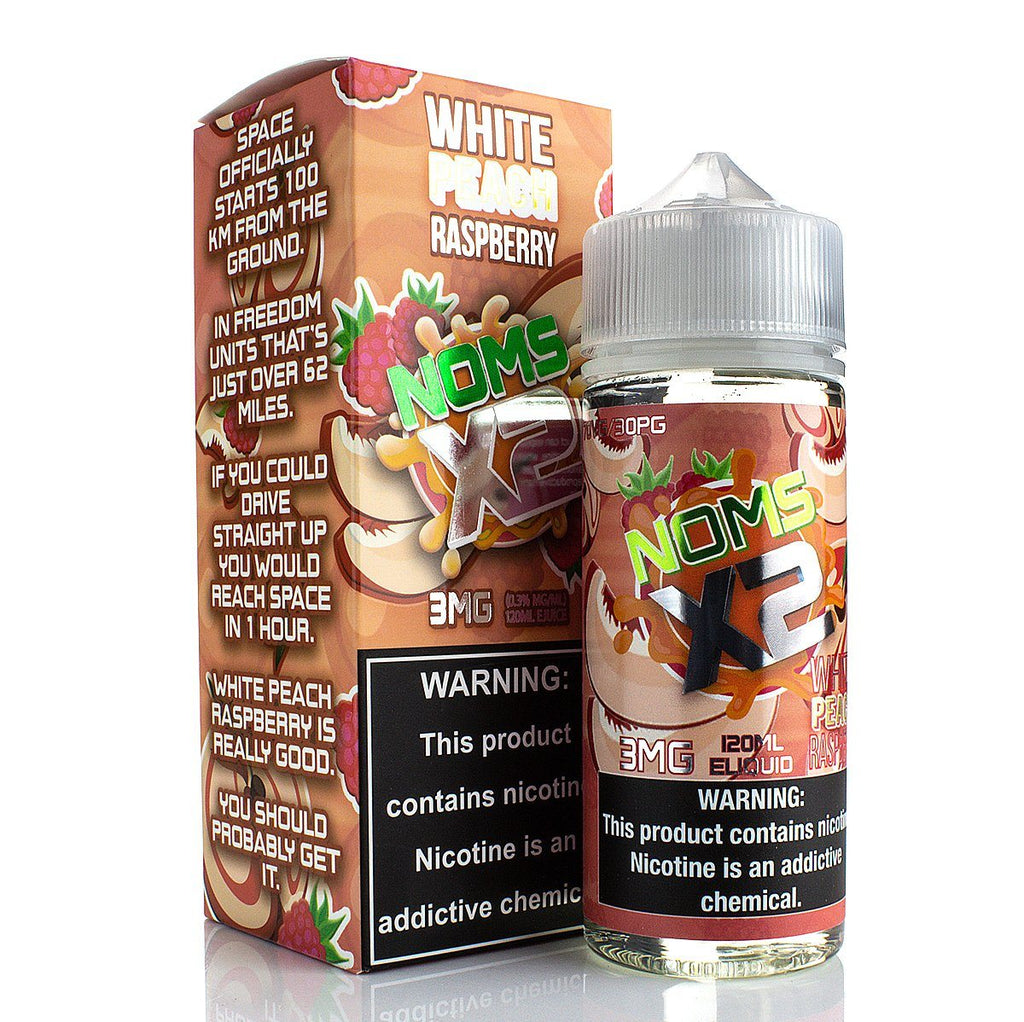 White Peach Raspberry by NOMS X2 120ml E-Juice Nomenon