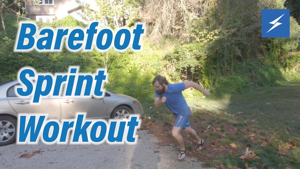 New Run With Us Video! Barefoot Sprint Workout