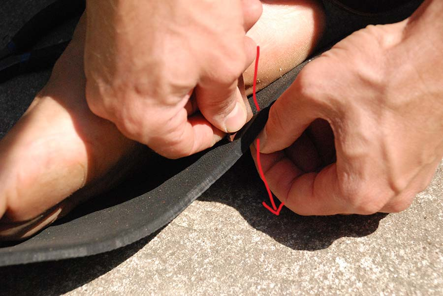 Leather Lacing Guide - Step 11