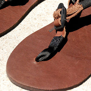 Shamma Footbed Hide House Brown