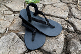Shamma Chargers sandals on rocky ground