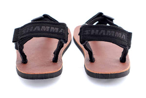 Shamma Little Chargers Leather Edition sandals back view