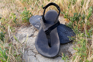 Mountain Goats sandals in scrub brush