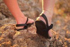 Shamma Sandals All Blacks flexible huaraches