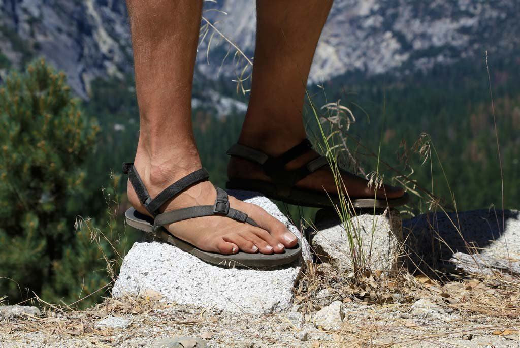 Shamma Sandals Power Straps hiking in mountains