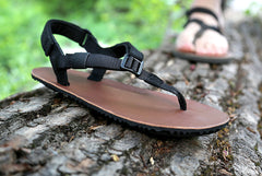Warriors Sandals Leather on log