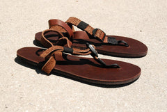 Shamma Sandals All Browns on ground