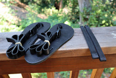 Black Classic Power Straps and unlaced sandals