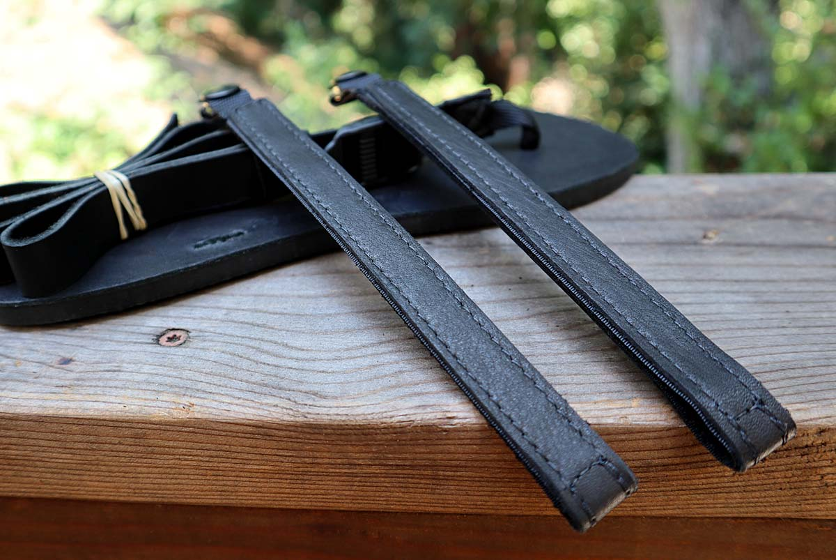 Black Classic Power Straps with sandals
