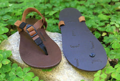 Shamma Sandals All Browns on clover