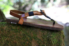 Shamma Old Goats leather sandals profile on moss