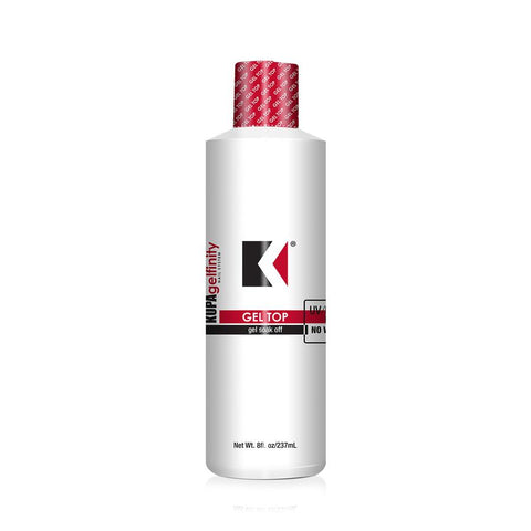 Kupa gel top coat 8 oz Refill no wipe