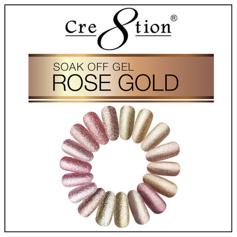 Rose Gold Gel Cre8tion 18 colors
