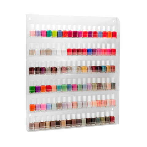 Nail Polish Flat Top Wall Rack Display(96 Bottle)