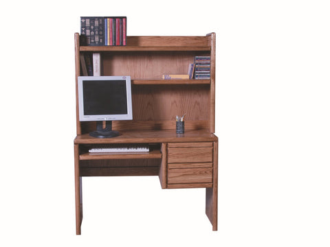Forest Designs Bullnose Hutch for 1011: 44w x 31H x 13D (Desk Sold Separately)