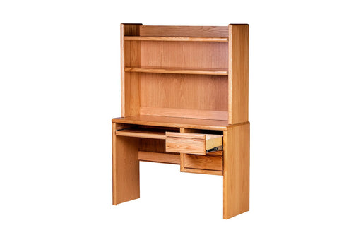 Forest Designs Bullnose Computer Desk & Hutch: 44W X 61H X 18D