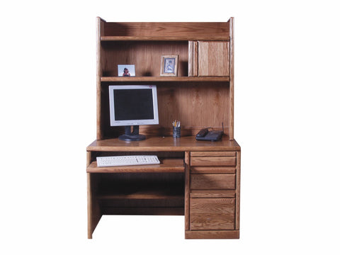 Forest Designs Bullnose Hutch for 1026: 48w x 42H x 13D (Desk Sold Separately)