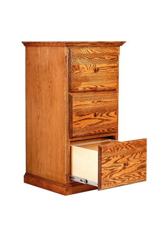 Forest Designs Traditional Three Drawer File: 22W X 43H X 21D
