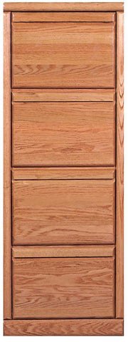 Forest Designs Bullnose Four Drawer File Cabinet: 22W x 56H x 21D