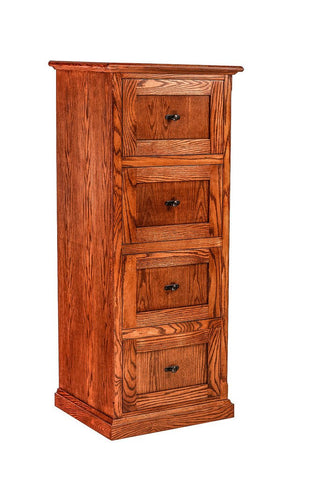 Forest Designs Mission Oak Four Drawer File: 22W x 56H x 21D