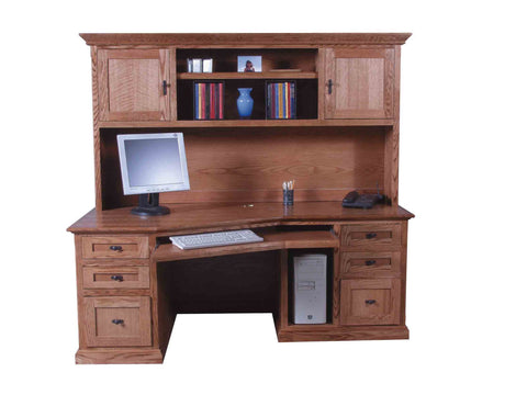 Forest Designs Mission Angled Computer Desk: 74W x 29H x 35D (No Hutch)