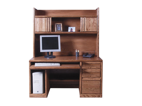 Forest Designs Bullnose Hutch for 1062: 56w x 42H x 13D (Desk Sold Separately)