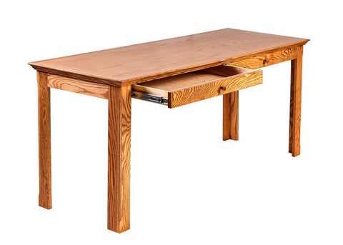 Forest Designs Traditional Oak Writing Table w/Drawers: 72W x 30H x 24D