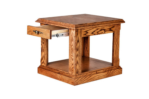 Forest Designs Traditional End Table: 21W X 20H X 24D