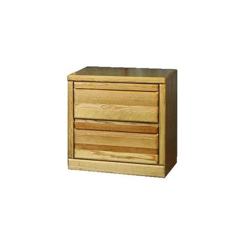 Forest Designs Bullnose Two Drawer Nightstand: 25W x 24H x 18D