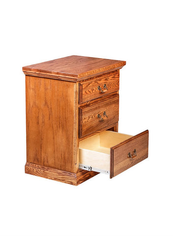 Forest Designs Traditional Three Drawer Nightstand: 25W X 30H X 18D