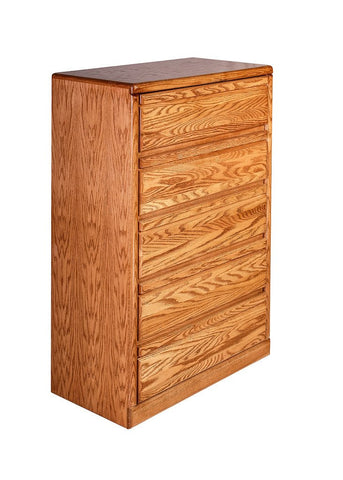 Forest Designs Bullnose Oak Five Drawer Chest: 34W x 48H x 18D