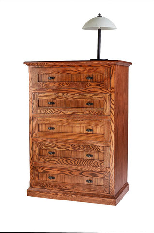 Forest Designs Mission Oak Five Drawer Chest: 34W x 48H x 18D