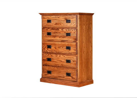Forest Designs Traditional Five Drawer Dresser: 34W X 48H X 18D