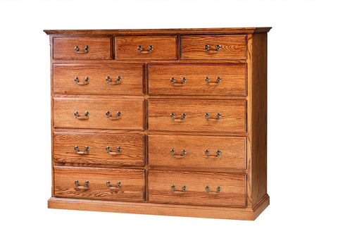 Forest Designs Traditional Eleven Drawer Dresser: 60W X 48H X 18D