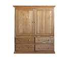 Forest Designs Traditional TV Armoire with Doors: 57W x 66H x 18D