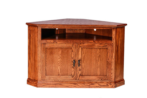 Forest Designs Mission Oak Corner TV Cart: 51W x 32H x 32D