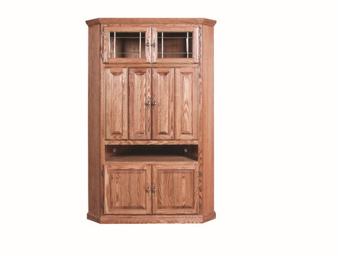 Forest Designs Traditional Corner TV Unit with Doors: 51W x 79H x 32D