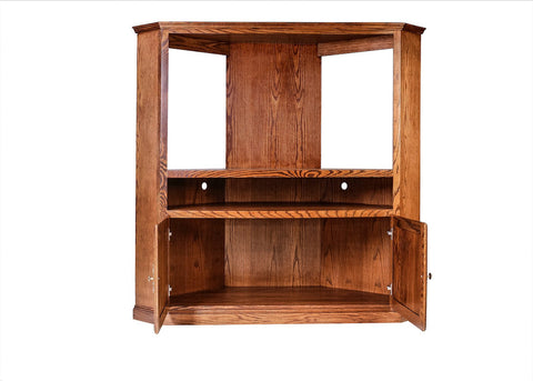 Forest Designs Traditional Large Corner TV Unit: 63W X 63H X 32D