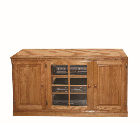Forest Designs Traditional Wood TV Stand with Media Storage: 56W x 30H x 21D
