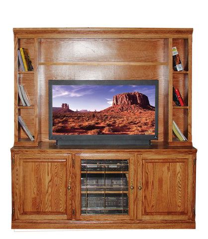 Forest Designs 67w Traditional Oak TV Stand Only: 67W x 30H x 21D (Hutch sold separately)