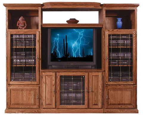 Forest Designs Traditional Three Piece Wall & TV Stand & Adjustable Shelf