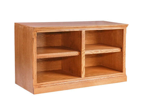 Forest Designs Traditional Oak TV Cart No Doors: 42W x 24H x 18D
