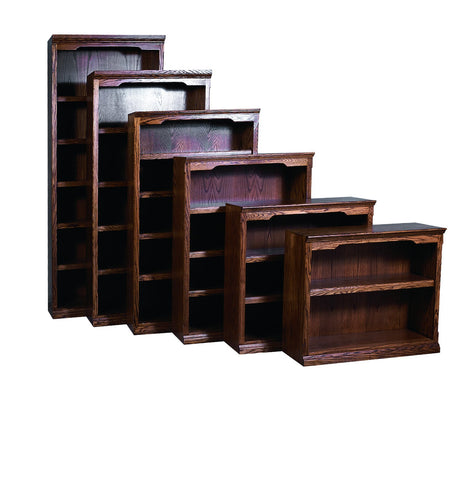 Forest Designs Traditional Bookcase: 36W X 13D Choose Your Height (One Bookcase)