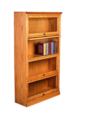 Forest Designs Traditional Oak Lawyers Bookcase: 36W x 64H(Four Doors) x 13D