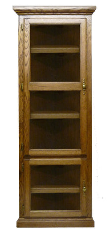 Forest Designs Traditional Corner Bookcase with Glass Doors: Choose Your Height (27 X 27 f/Corner)